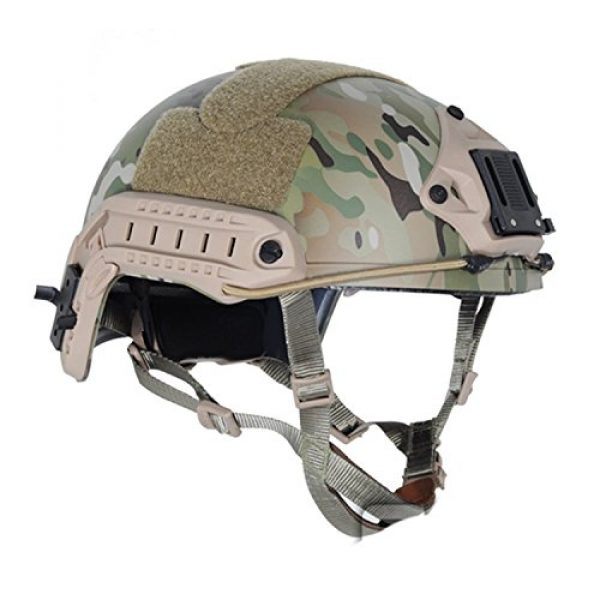 ATAIRSOFT Airsoft Helmet 2 ATAIRSOFT MH Type Tactical Paintball Adjustable Fast Helmet w/Side Rails and NVG Mount Multicam MCˆM/L