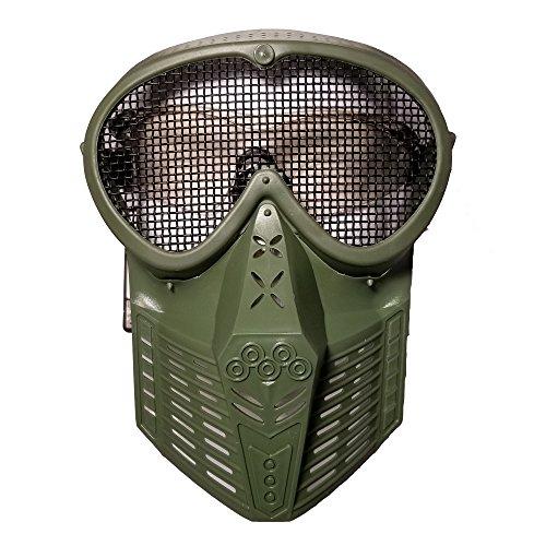 JustBBGuns Airsoft Mask 2 JustBBGuns Airsoft Pro Full Face Mask with Metal Mesh Eye Protection