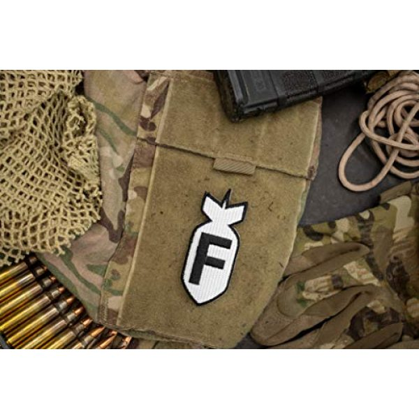 BASTION Airsoft Patch 5 BASTION Morale Patches (F Bomb, BNW)   3D Embroidered Patches with Hook & Loop Fastener Backing   Well-Made Clean Stitching   Military Patches Ideal for Tactical Bag, Hats & Vest
