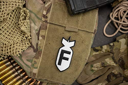 BNW) | 3D Embroidered Patches with Hook & Loop Fastener Backing | Well-Made Clean Stitching | Military Patches Ideal for Tactical Bag