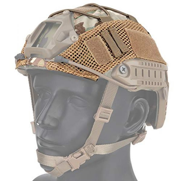 LANZON Airsoft Helmet 1 LANZON Tactical Multicam Helmet Cover for Fast Style Helmets (The Helmet is NOT Included)