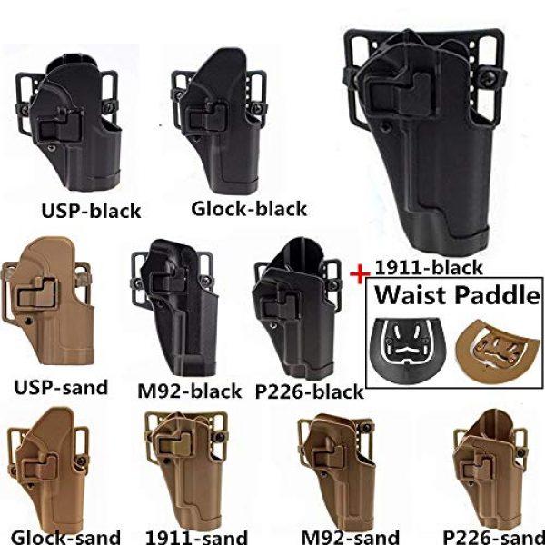 FIRECLUB  4 FIRECLUB Tactical CQC Compact Handgun Belt Holster Quick Draw Right Hand Gun Holster with Paddle Waist Belt for Glock Glock17 1911 M92 P226