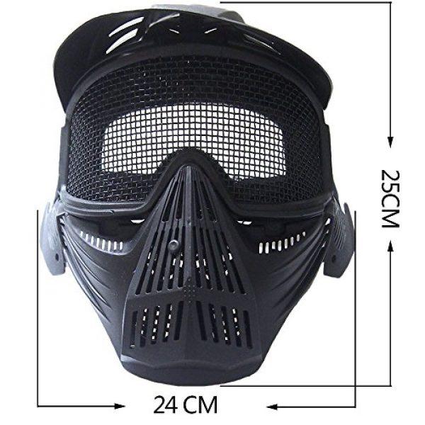 RNTOP_Hat Airsoft Mask 5 Balaclava Tactical Airsoft Full Face Mask Safety Metal Mesh Goggles Protection CS