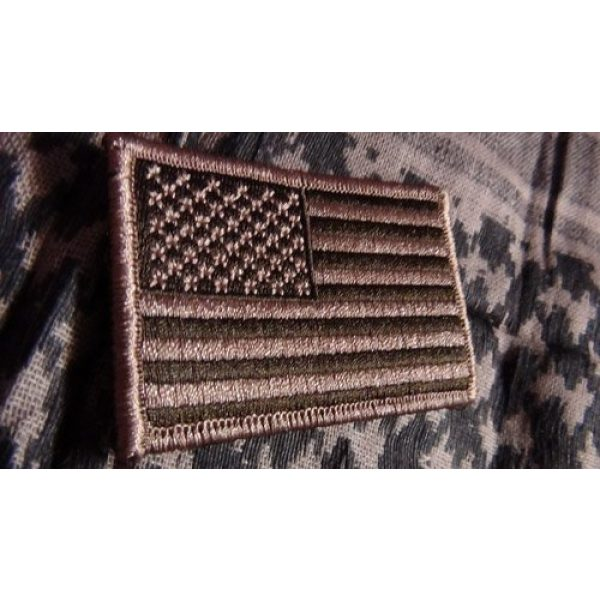 """Cpatches Airsoft Patch 2 Tactical USA Flag Patch - Desert Tan 2""""x3"""" Hook and Loop backing"""