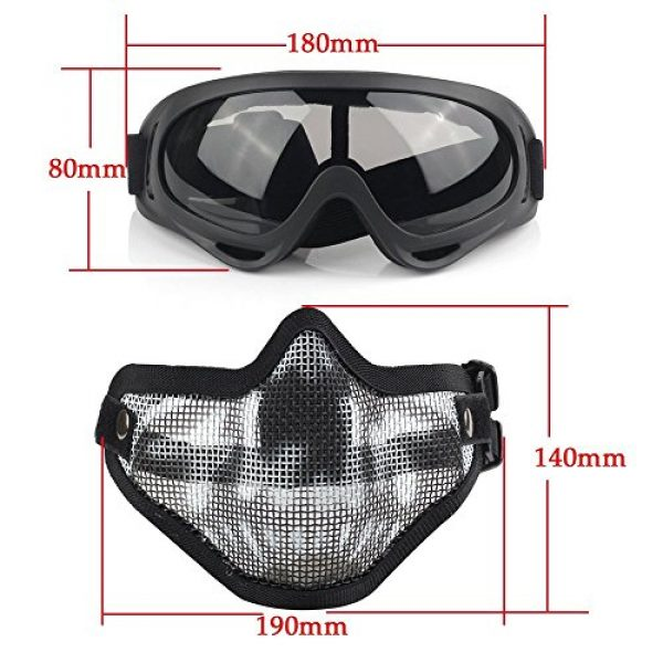 Mesh Half Face Skull Set with Goggles(1 Pack BBS Included