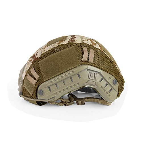 ATAIRSOFT Airsoft Helmet 6 ATAIRSOFT Airsoft Tactical Military Combat Helmet Cover for PJ/BJ/MH Type Fast Helmet Back Pouch (DD)