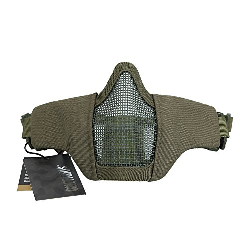"OneTigris Airsoft Mask 1 OneTigris 4.5"" Tactical Foldable Half Face Mask Protective Mesh Mask Fit Women & Teenagers"