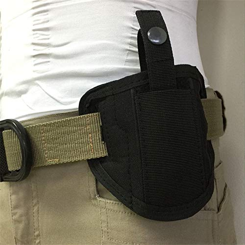 FIRECLUB  6 FIRECLUB Tactical Molle 6 Position Ambidextrous Concealment Holster for Compact Subcompact Waist Handguns Concealed Belt Holster for Right Left Hand Draw Black
