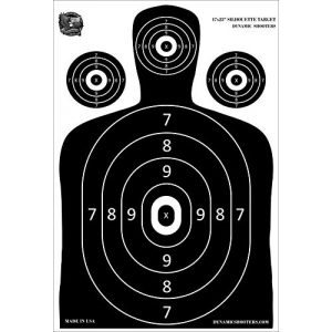 Dynamic Shooters Airsoft Target 1 Dynamic Shooters 100 Pack 17X25-inch Made in USA Large Paper Silhouette Range Shooting Targets - Firearm