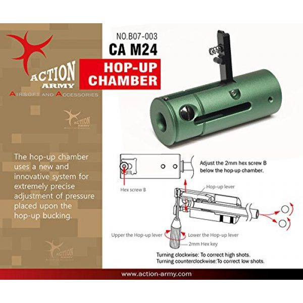 Action Army Airsoft Barrel 1 Action Army B07-003 Class Army M24 LTR CNC Hop Up Chamber