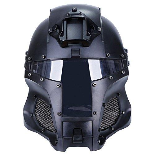 SUNRIS Airsoft Helmet 2 Tactical Military Ballistic Helmet Side Rail NVG Shroud Transfer Base Army Combat Airsoft Paintball Full Face Mask Helmet