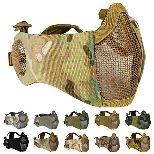 Aoutacc Airsoft Mask 1 Foldable Airsoft Mesh Mask