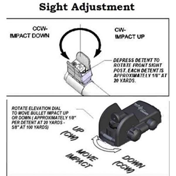 """Tech SIGHT Airsoft Gun Sight 4 Tech SIGHT TSR200RL Adjustable Aperture Sight for The Ruger 10/22 Rifle with a 3/8"""" Rail"""