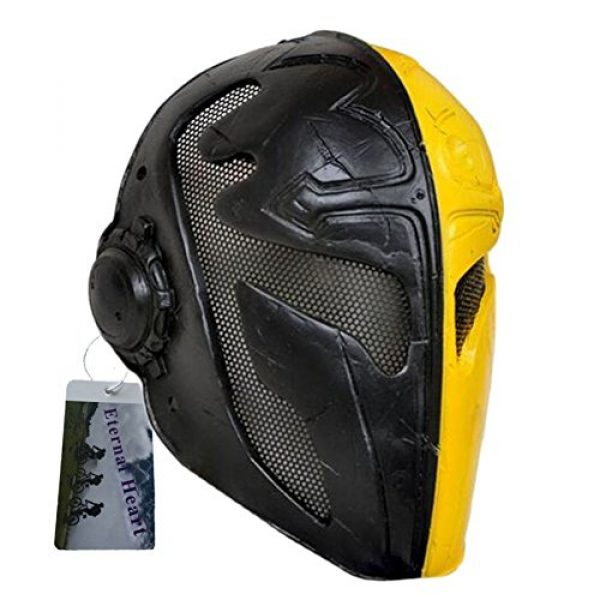 Eternal Heart Airsoft Mask 3 WT808 Cool Knights Templar Protective Wire Mesh Mask for Airsoft Paintball Display