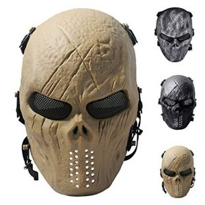 Outgeek Airsoft Mask 1 Outgeek Airsoft Mask Scary Skull Outdoor Full Face Mask Mesh Eye Protection Mask