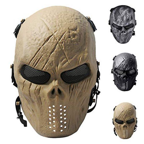 Outgeek Airsoft Mask 1 Outgeek Airsoft Mask Scary Skull Outdoor Full Face Mask Mesh Eye Protection Mask