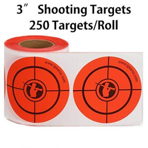 "GearOZ Airsoft Target 1 GearOZ Shooting Target Stickers for Paper Range - 3"" Adhesive Reactive 250 Targets for BB Pellet Airsoft Guns"