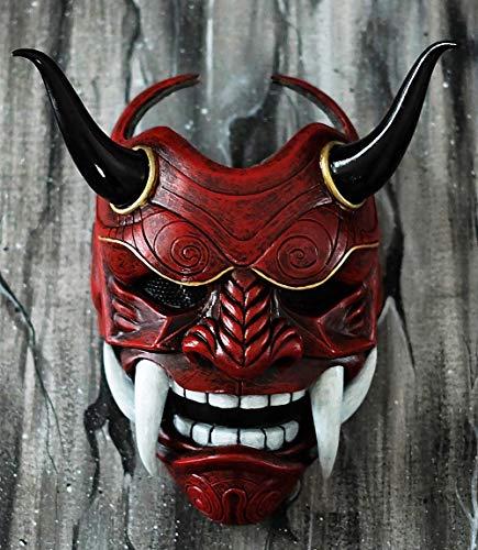 tripple_777 Airsoft Mask 4 tripple_777 Samurai Assassin Demon Oni Airsoft Mask BB Gun Halloween Costume Ninja Warrior Evil Cosplay red DA01