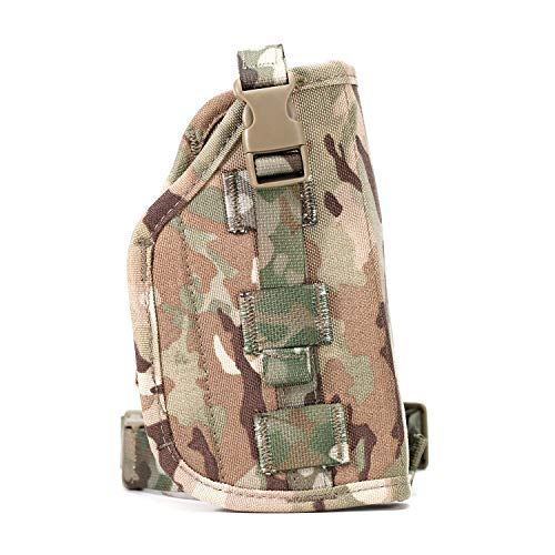 LIVIQILY  4 LIVIQILY Camouflage Tactical Molle Pistol Thigh Gun Holster Leg Holster Adjustable Pistol Carrier Airsoft Hunting Case Vertical Accessories
