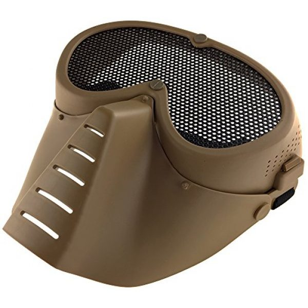SportPro Airsoft Mask 5 SportPro CM Mesh Eye Protection Full Face Mask for Airsoft - Tan