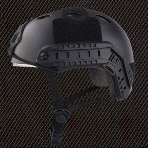 ATAIRSOFT Airsoft Helmet 5 ATAIRSOFT PJ Type Tactical Multifunctional Fast Helmet with Visor Goggles Version Black