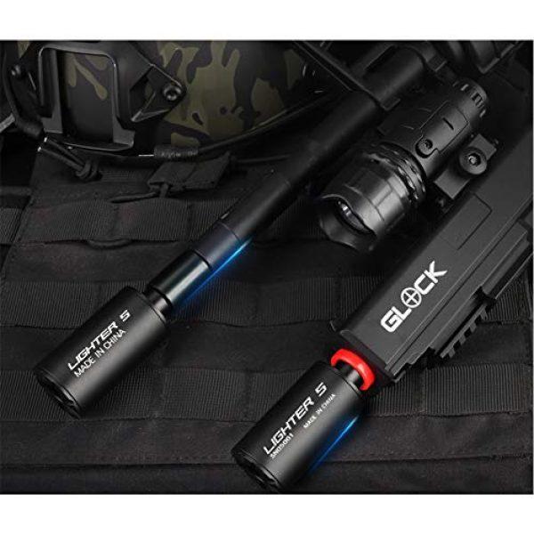 Auto Tactical Gun Pistol Mini Tracer Unit for 14mm CCW Thread Airsoft Guns M14/10MM CW Thread Pistol BBS Glow in Dark