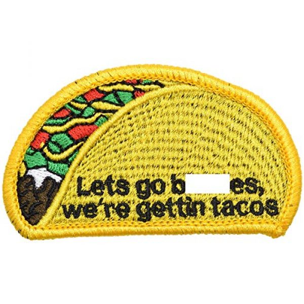 Tactical Gear Junkie Airsoft Morale Patch 1 Let's Go, We're Gettin' Tacos - 2x3.25 Patch
