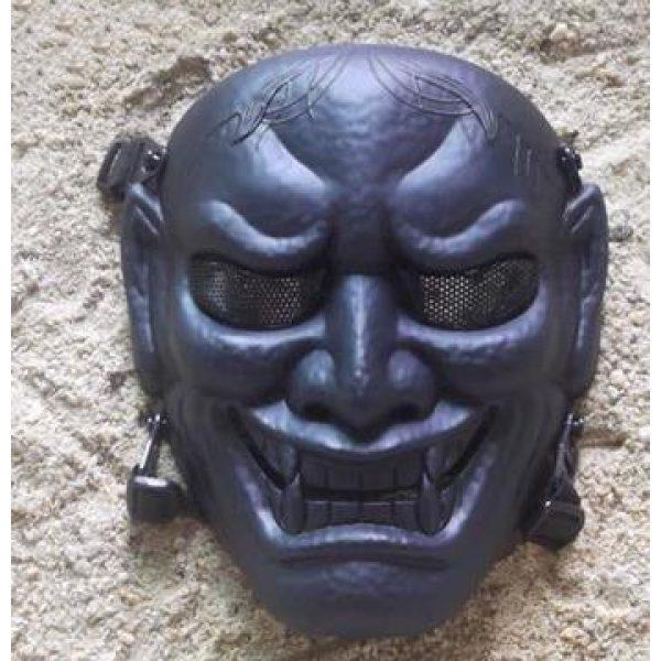 phoenix outdoor Airsoft Mask 2 phoenix outdoor Japanese Samurai Metal Mesh Full Face Protective Airsoft Mask -Permance Goggle-Black-Halloween Mask