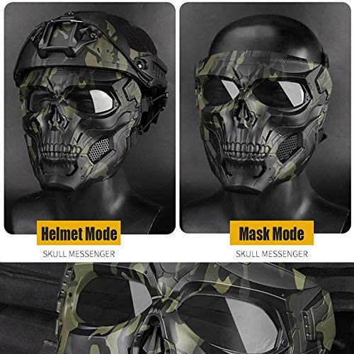 Full Face Protective Paintball Masks for Airsoft Paintball Outdoor Cs War Game BB Gun Halloween Skeleton Masks Party Cosplay Mask Movie Props