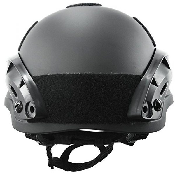 ATAIRSOFT Airsoft Helmet 5 ATAIRSOFT PJ Type Tactical Airsoft Paintball MICH 2002 Helmet with Side Rail & NVG Mount