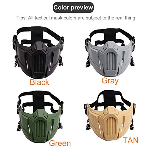 Outgeek Airsoft Mask 4 Outgeek Airsoft Mask Protective Half Face Mask Outdoor Game Mask for Outdoor