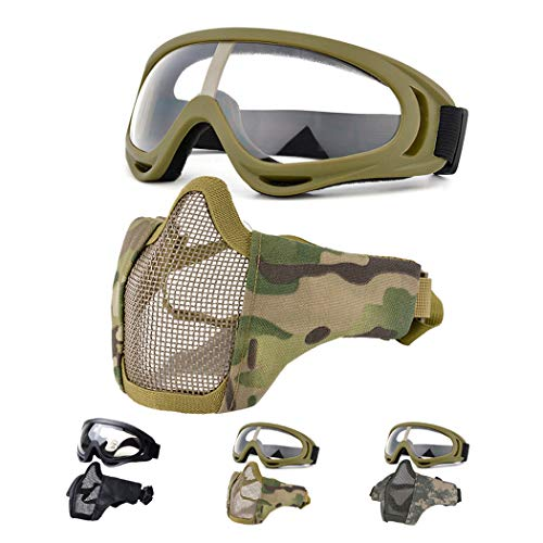 Fansport Airsoft Mask 1 Fansport Airsoft Mask Tactical Goggles Set