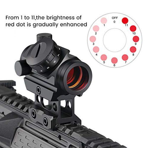 Feyachi Airsoft Gun Sight 3 Feyachi RDS-25 Red Dot Sight 4 MOA Micro Red Dot Gun Sight Rifle Scope with 1 inch Riser Mount
