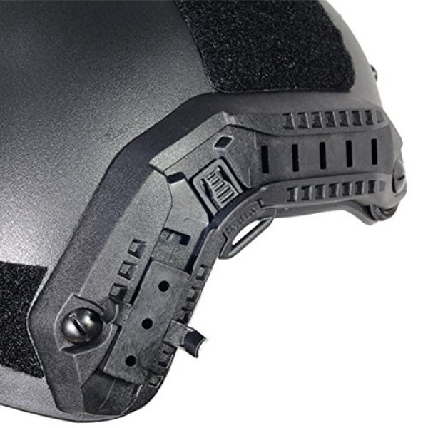 Optional life Airsoft Helmet 6 Optional life Black Free Size Tactical ABS Airsoft CS Paintball Security Helmet