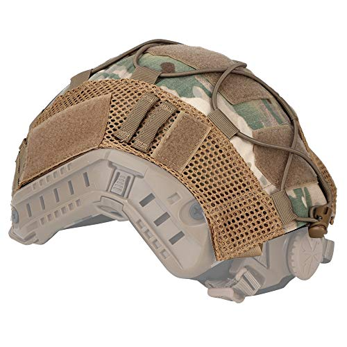 LANZON Airsoft Helmet 3 LANZON Tactical Multicam Helmet Cover for Fast Style Helmets (The Helmet is NOT Included)