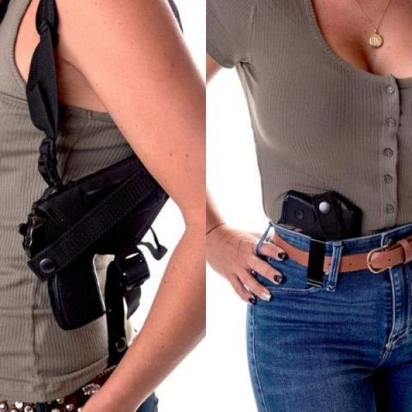 Wyoming Holster  1 Gun Holster Shoulder/Concealed IWB FITS HI Point 45 HIGH Point 40 SIG SAUER P250 Taurus PT 140 PT 145 H&K USP and Most Full Size 45 Autos Hip Holster 6