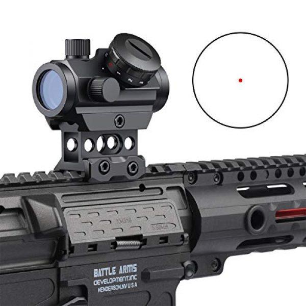 Feyachi Airsoft Gun Sight 2 Feyachi RDS-25 Red Dot Sight 4 MOA Micro Red Dot Gun Sight Rifle Scope with 1 inch Riser Mount