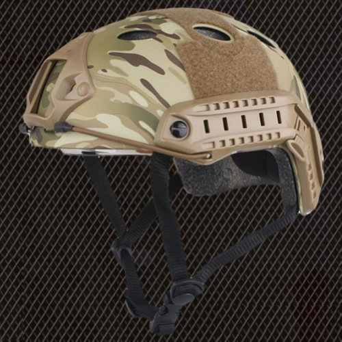 ATAIRSOFT Airsoft Helmet 4 ATAIRSOFT PJ Type Tactical Fast Helmet w/Protective Goggles Version Multicam