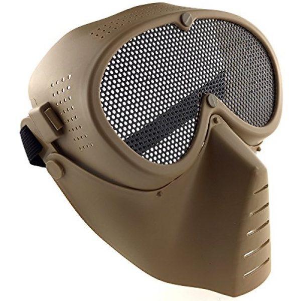 SportPro Airsoft Mask 2 SportPro CM Mesh Eye Protection Full Face Mask for Airsoft - Tan