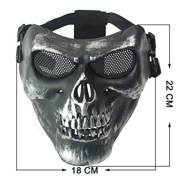 Paintball Mask with Metal Mesh Eye Protection Army Fans Supplies for Halloween Airsoft Paintball BB Gun CS Game Cosplay and Masquerade Party