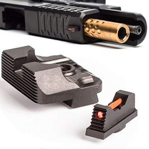 Higoo Airsoft Gun Sight 1 Higoo Tactical Fiber Optic Handgun Pistol Sight Front/Rear Set for Glock