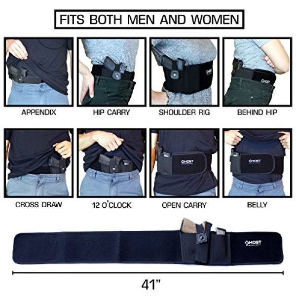 Ghost Concealment  4 Ghost Concealment Belly Band Holster for Concealed Carry   IWB Gun Holsters   Men and Women