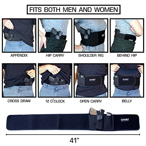 Ghost Concealment  4 Ghost Concealment Belly Band Holster for Concealed Carry | IWB Gun Holsters | Men and Women