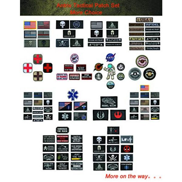 Antrix Airsoft Patch 5 Antrix 5 Pieces Tactical USMC Morale Patch Hook and Loop Fastener US Marine Corps US Army Military Applique Emblem Patch Set for Caps,Bags,Backpacks,Clothes,Vest,Military Uniforms,Tactical Gear Etc.
