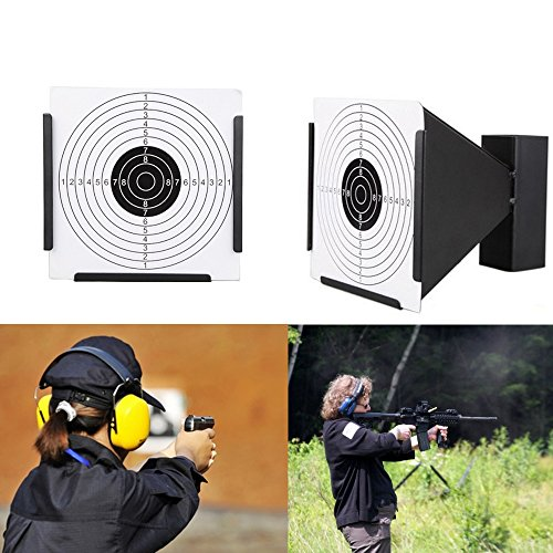 Guyuyii Airsoft Target 5 Guyuyii 14cm Steel Target Holder + 100 Targets air Rifle Pelet Trap Shooting Airsoft