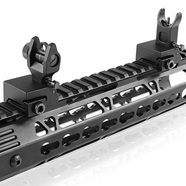Gogoku Airsoft Gun Sight 5 Gogoku Flip Up Iron Sight Front Rear Sight Compatible for Picatinny Rail and Weaver Rail Foldable Sights