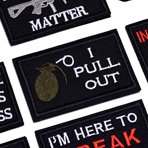 JUSHOOR Airsoft Patch 2 20 Pack Tactical Morale Patches with Velcro