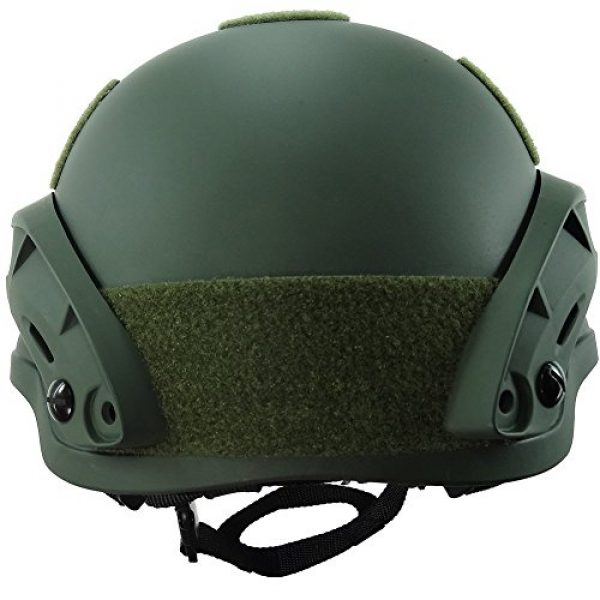 H World Shopping Airsoft Helmet 3 H World Shopping MICH 2002 Combat Protective Helmet with Side Rail & NVG Mount for Airsoft Tactical Military Paintball Hunting