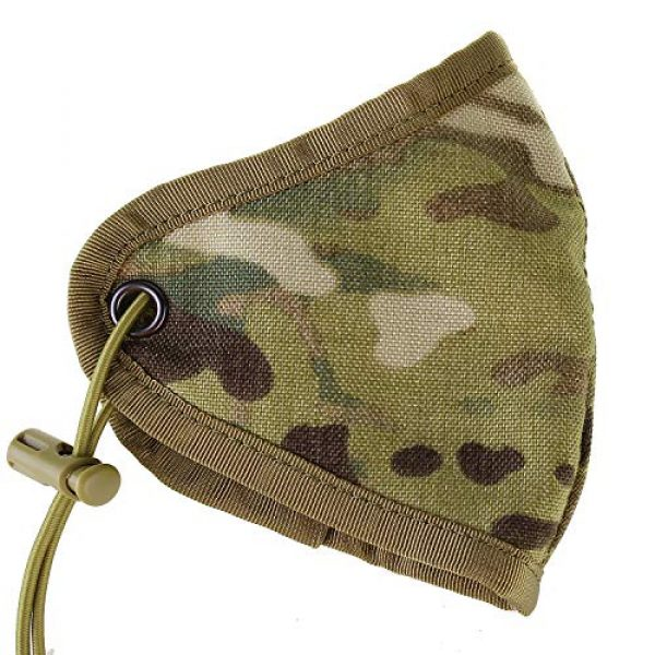 TCMAO Airsoft Mask 7 Reusable Activated Dustproof Safety Tactical Face Cover Cordura Military Anti Cold Sports Airsoft Bicycle Mountain Riding Face Covering Shiled