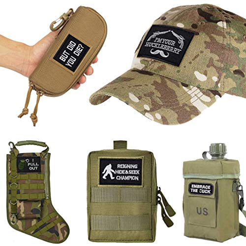 JUSHOOR Airsoft Patch 3 20 Pack Tactical Morale Patches with Velcro